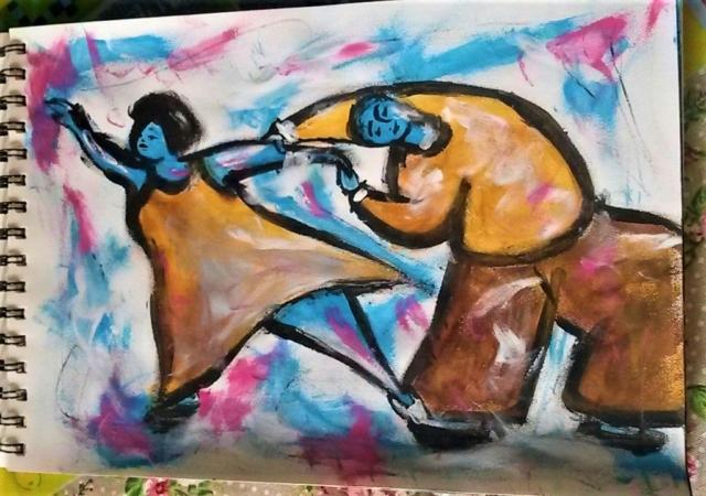 Dancing Couple - Sketches - ItyArt - Ilary Tiralongo