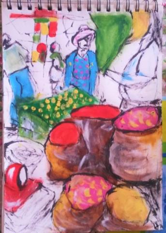 The Market - Sketches - ItyArt - Ilary Tiralongo