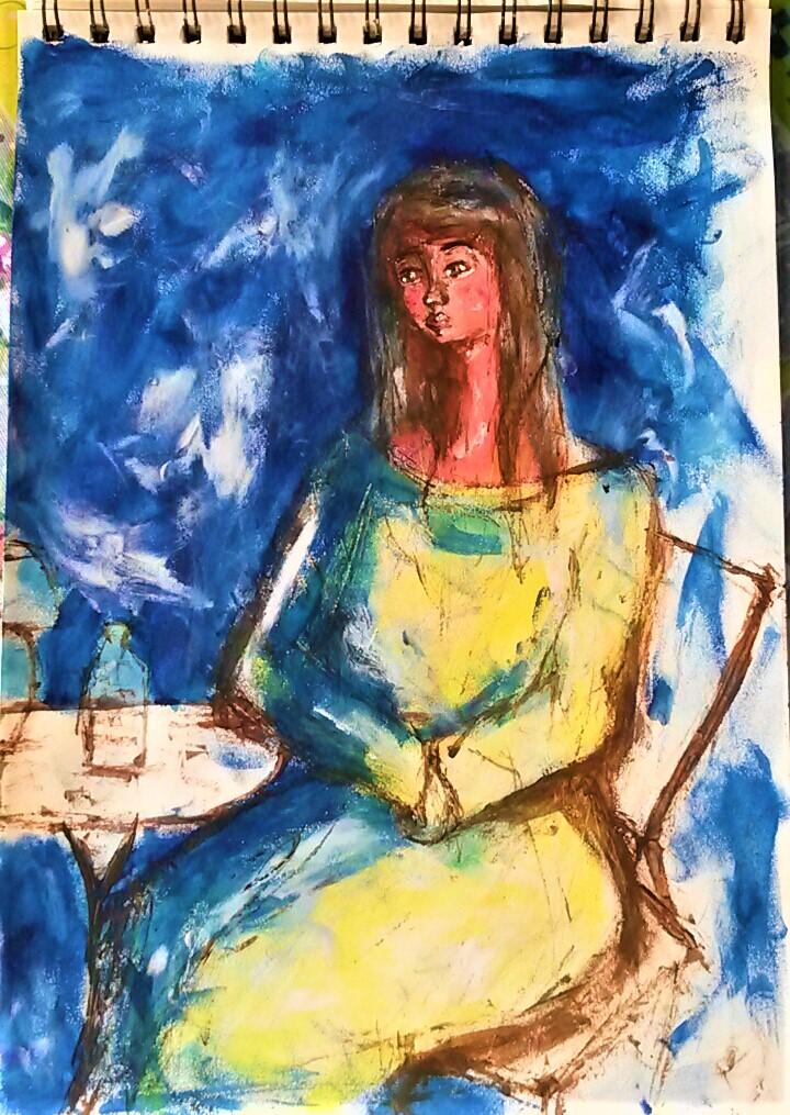 Portrait blue - Sketches - ItyArt - Ilary Tiralongo