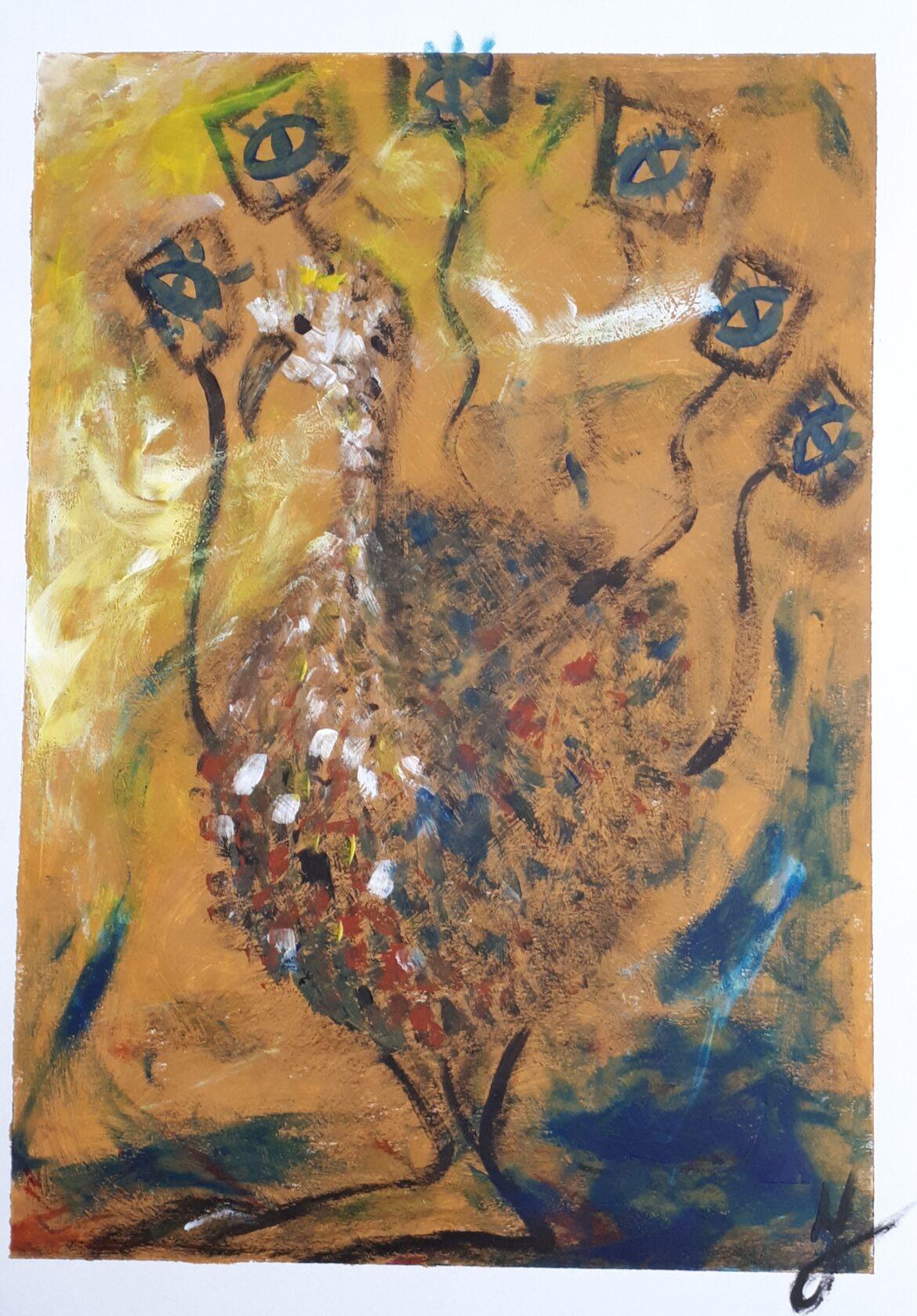 Ocra e blu-dipinto-Ilary Tiralongo-ityart
